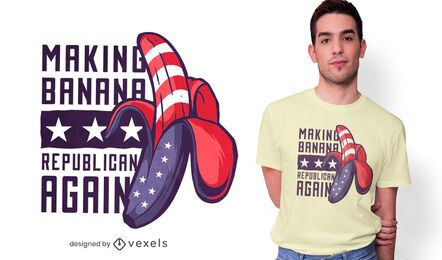 Diseño de camiseta Republican Banana
