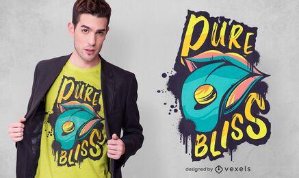 Diseño de camiseta de lengua de éxtasis.