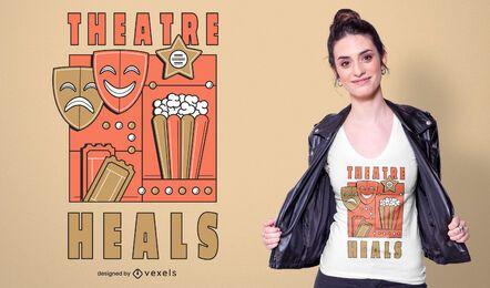 Diseño de camiseta de elementos de teatro.