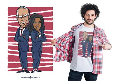 Design de camiseta Biden Harris