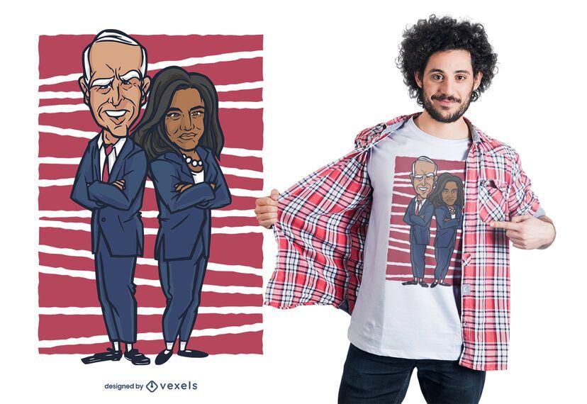 Diseño de camiseta biden harris