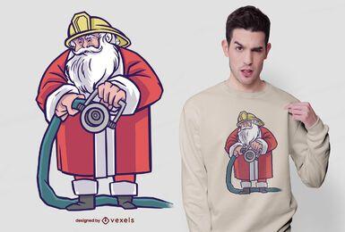 Projeto de camiseta de mangueira do Papai Noel