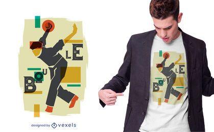 Diseño de camiseta de jugador de bolos
