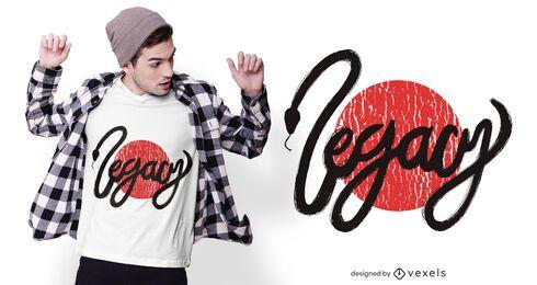 Design de camiseta de cobra legado