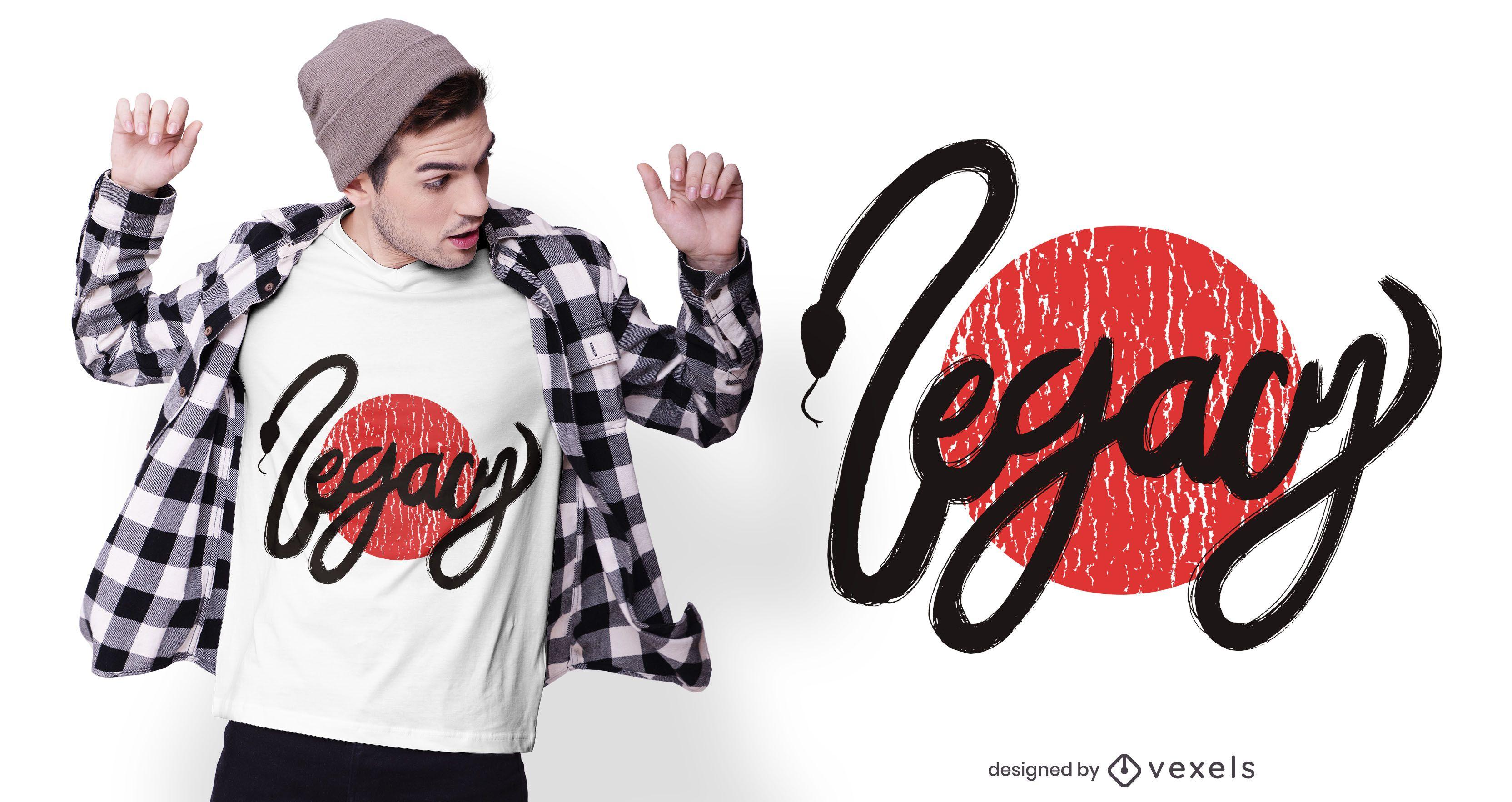 Legacy snake t-shirt design