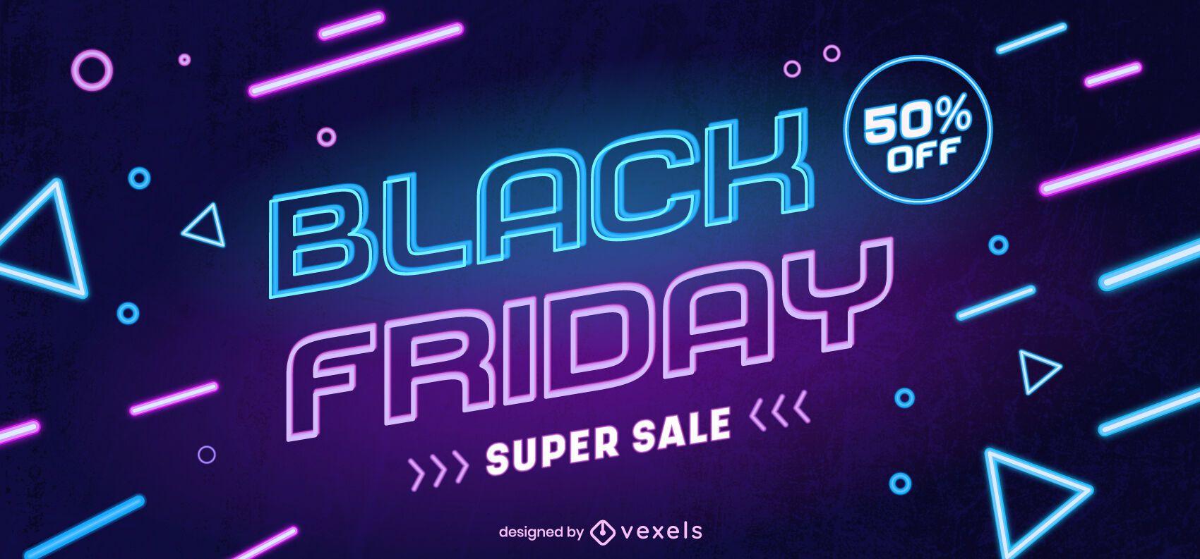 Slider da web super venda Black Friday