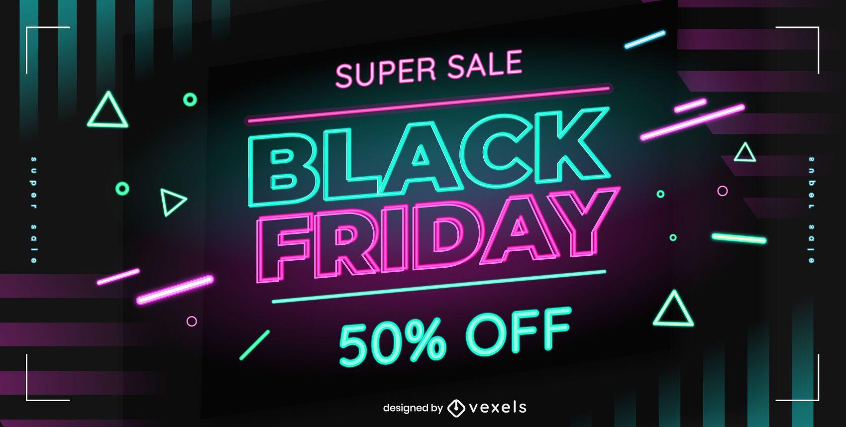 Black friday sale web slider design