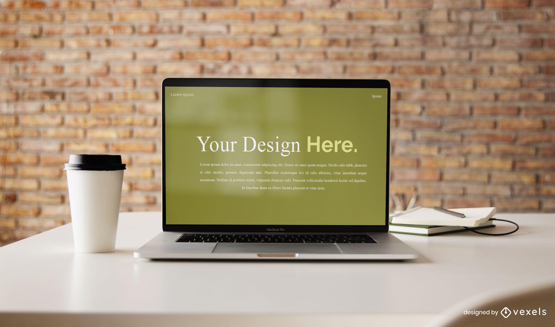 Diseño de maqueta de computadora portátil