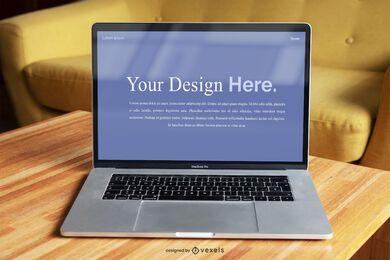 Modelo de maquete de tela de laptop