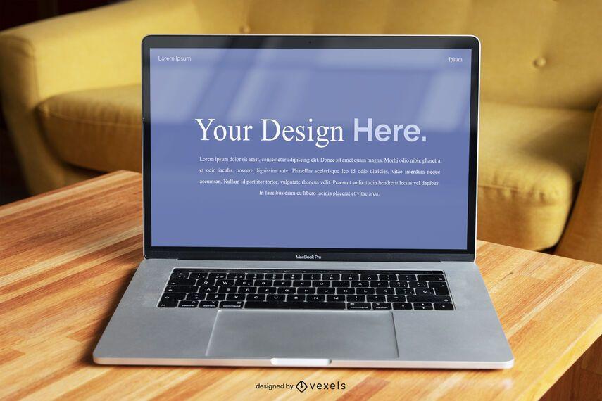 Laptop Screen Mockup Template
