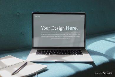 Maqueta de pantalla de portátil profesional