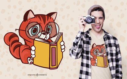 Design de camiseta com leitor de gato