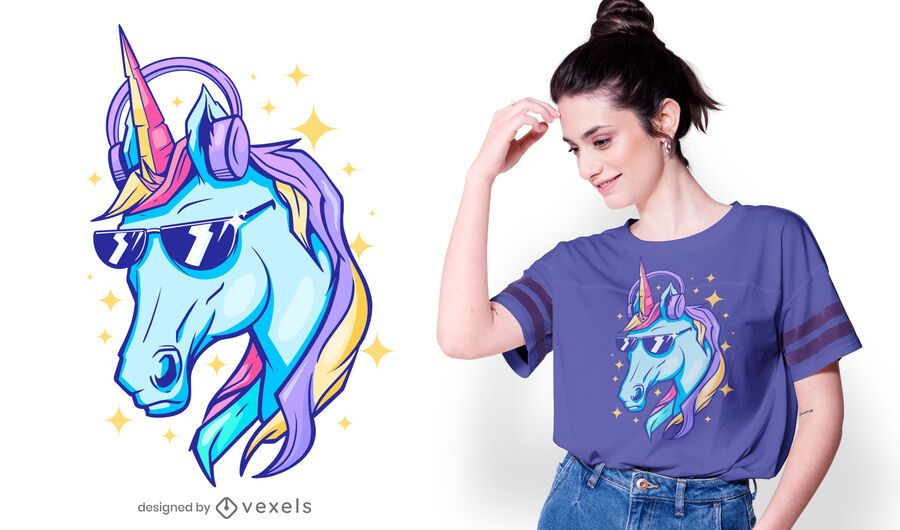 Sparkly unicorn t-shirt design
