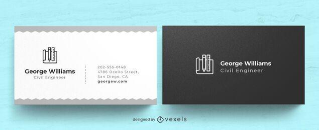 Diseño de tarjeta de visita de ingeniero