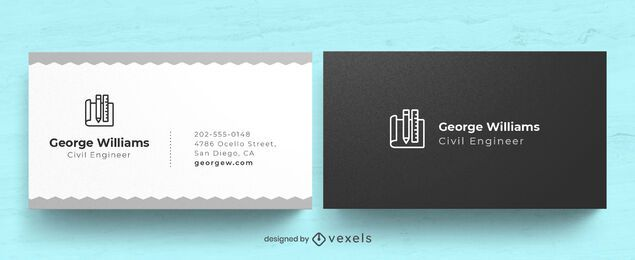 Engineer business card design
