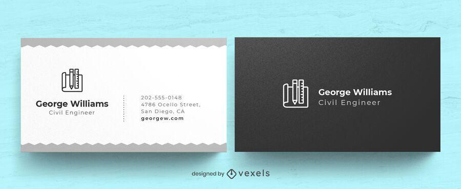 Engineer business card design