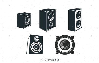 Pacote de vetores de alto-falantes