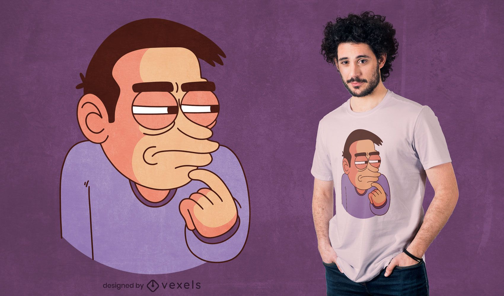 Diseño de camiseta de meme de duda
