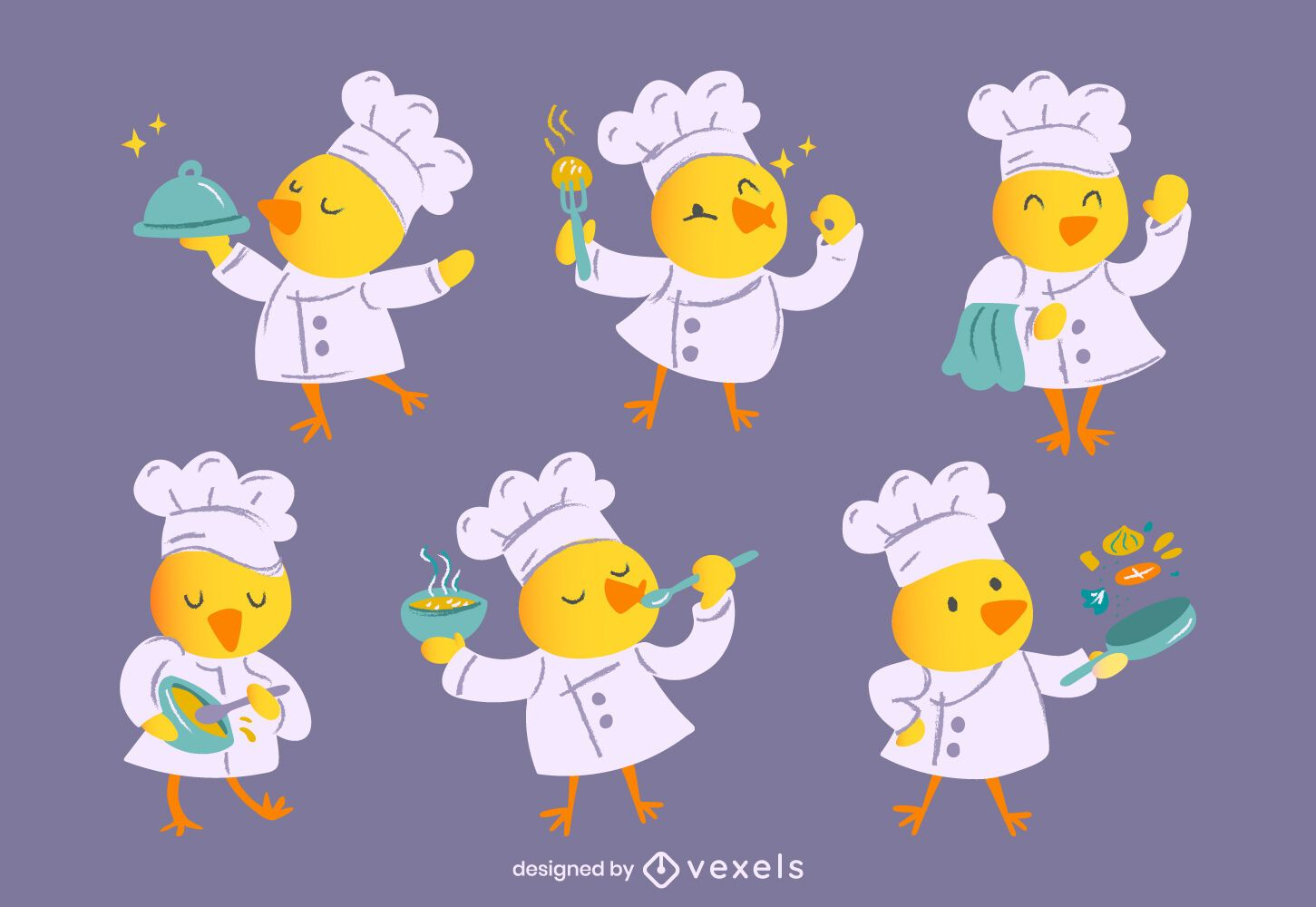 Chef chick character set