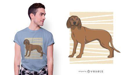 Diseño de camiseta de perro de montaña bávaro.