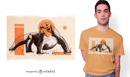 Design de camiseta do dragão de Komodo