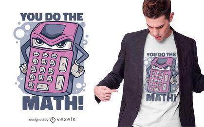 Design de camiseta com cotação de calculadora