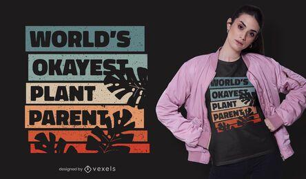 Diseño de camiseta de padre de planta