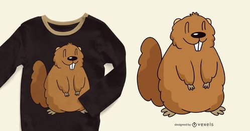 Cute marmot t-shirt design