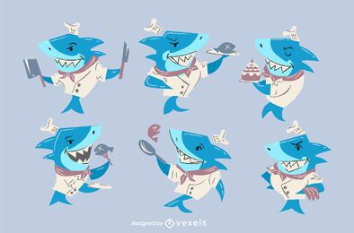 Chef shark character set