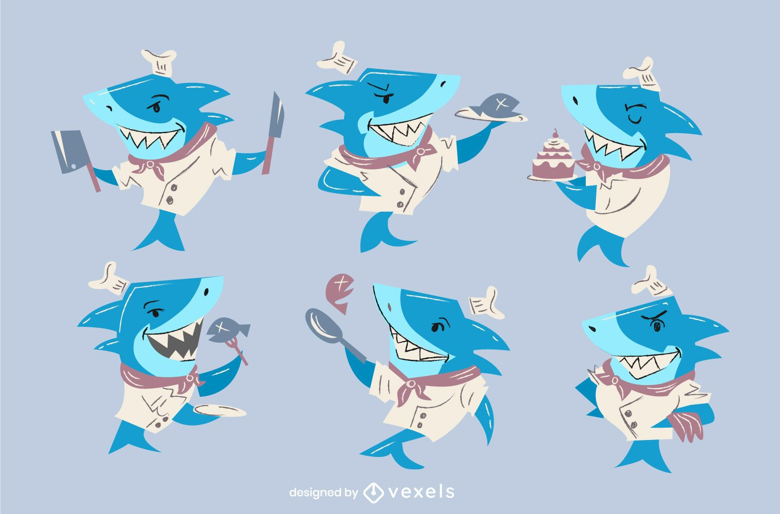 Chef shark character set