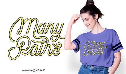 Design de camisetas de muitos caminhos