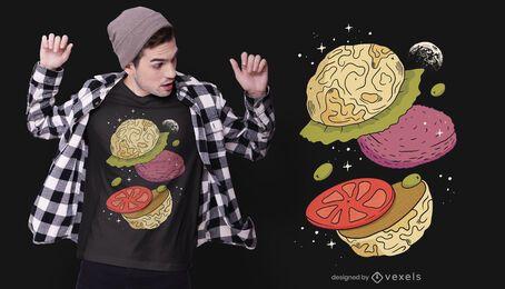 Design de camiseta de hambúrguer Moon