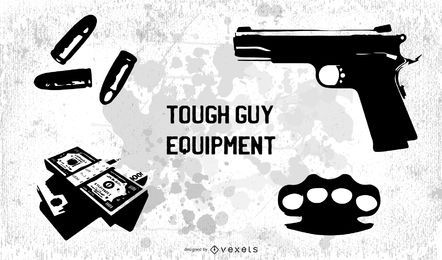 Tough guy equipment free vector