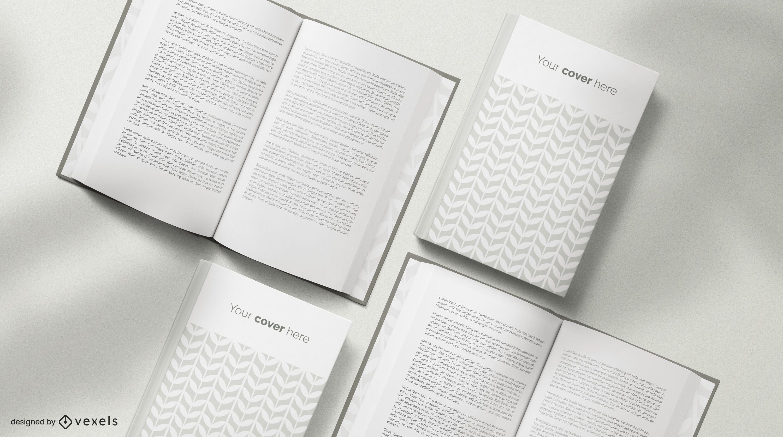 Bücher Modell Komposition