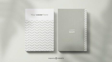 Composición de maqueta de libro y cuaderno