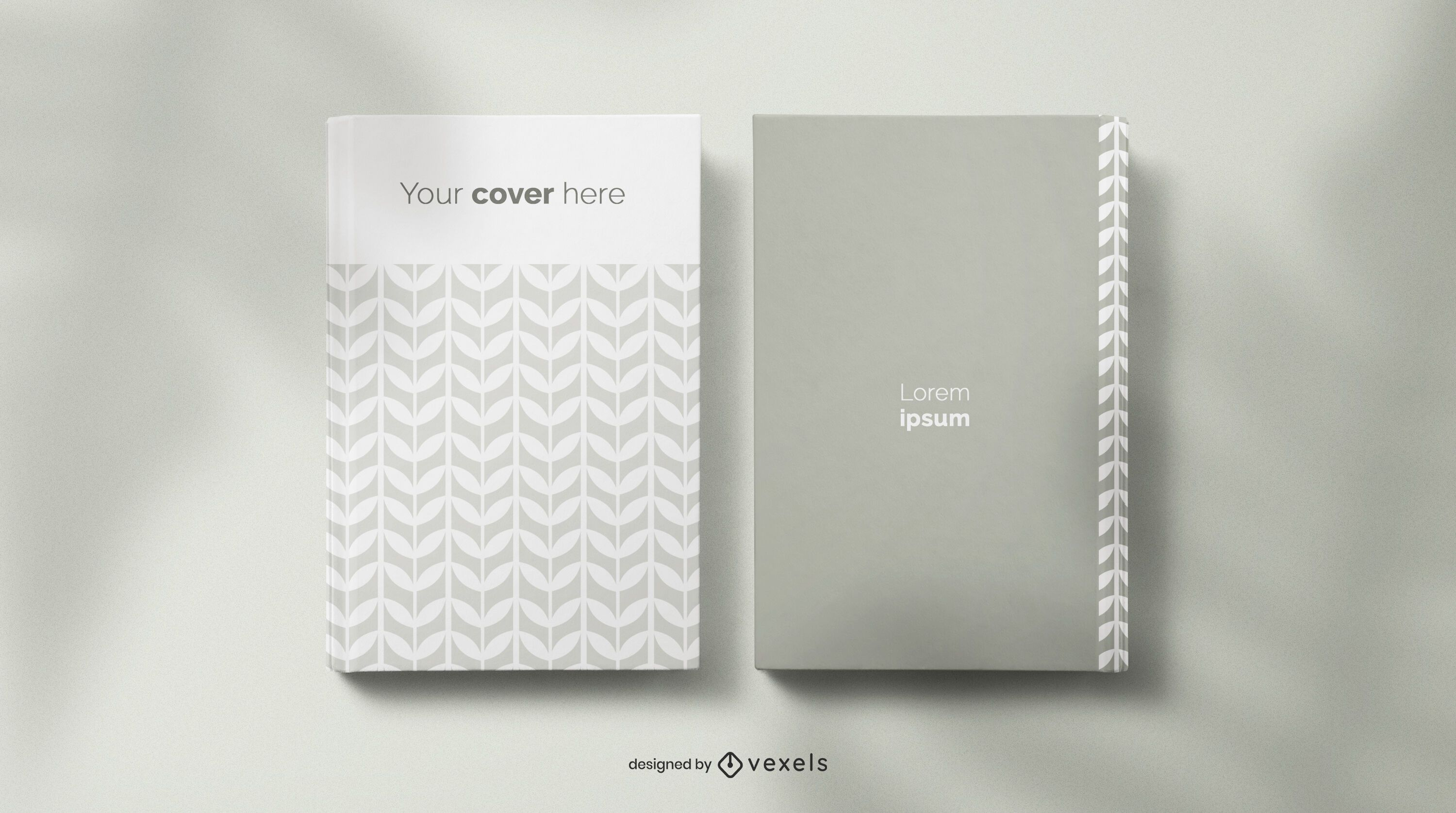 Book and notebook mockup composition