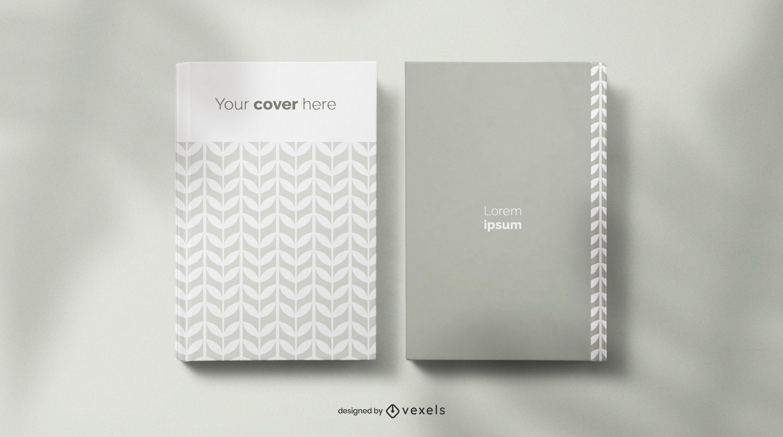 Composição de maquete de livro e caderno