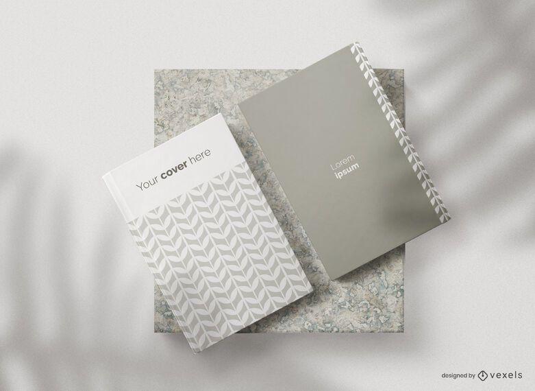 Composição de maquete de capas de livro