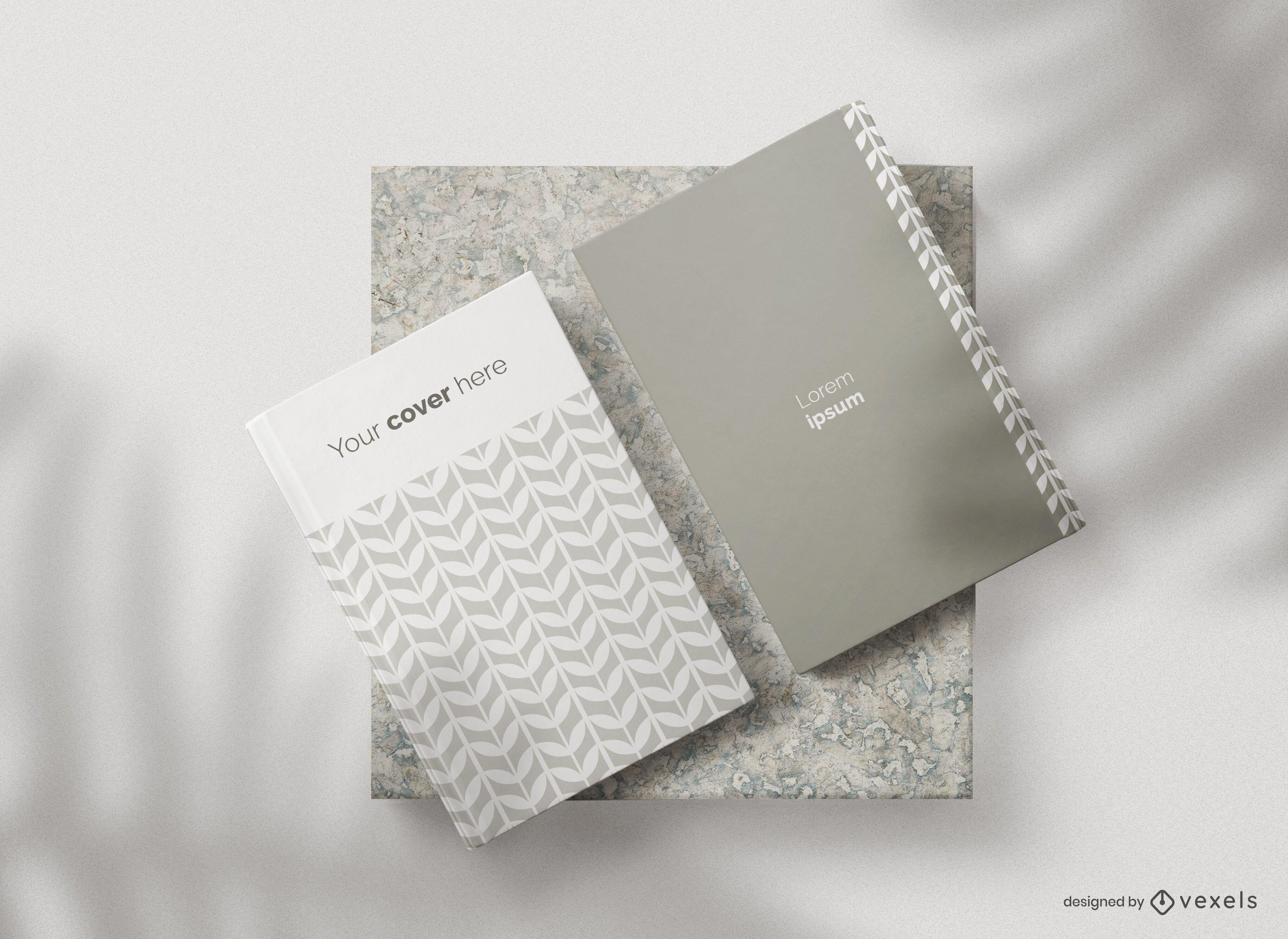 Composición de maqueta de portadas de libros