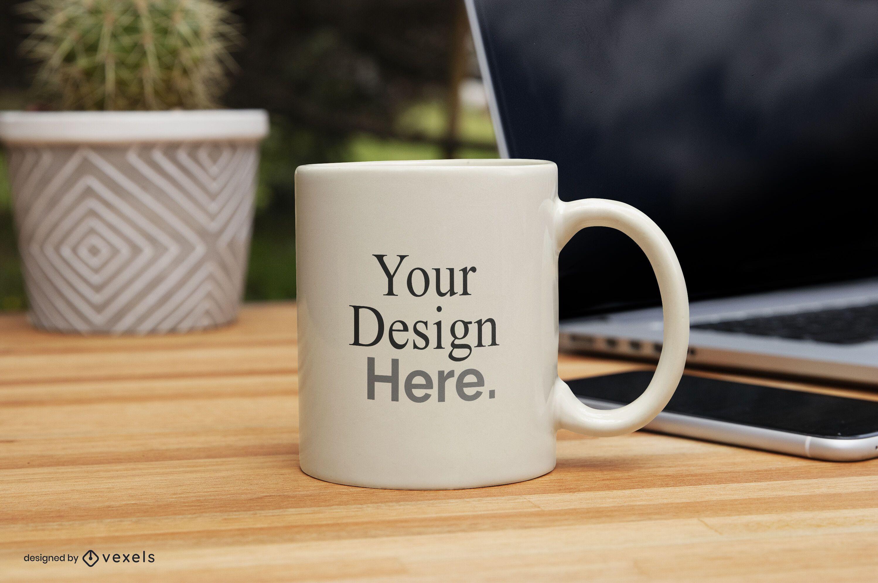 Diseño de maqueta de taza de negocios
