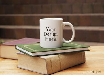 Mug books mockup composition