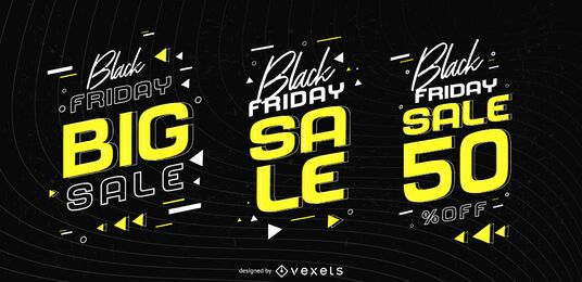 Black friday sale badge set