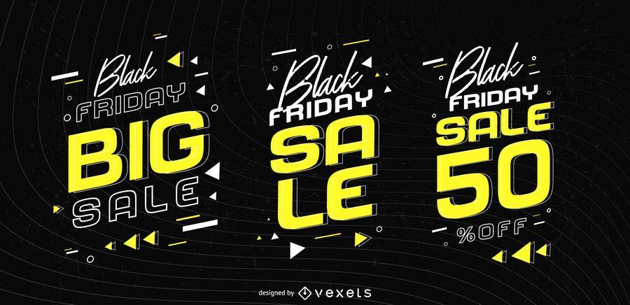 Black friday sale badge set