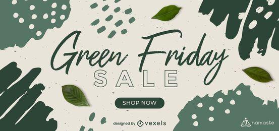 Plantilla de control deslizante de venta de viernes verde
