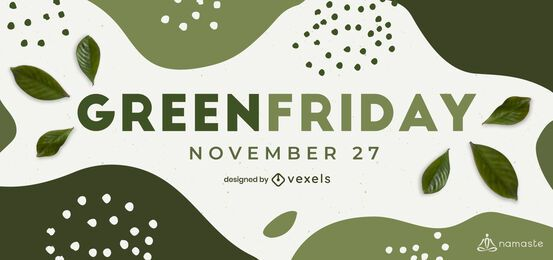 Grüner Freitag Schieberegler Vorlage