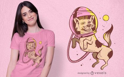 Design de t-shirt de cão astronauta