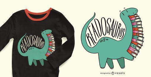 Design de camiseta Readosaurus