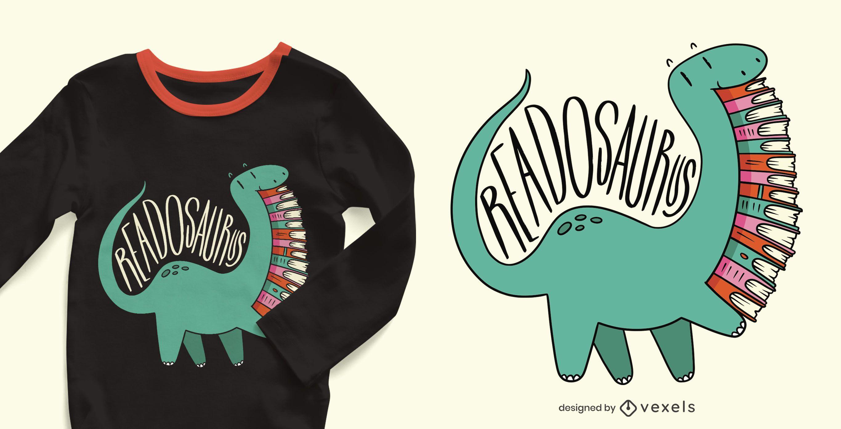 Diseño de camiseta Readosaurus