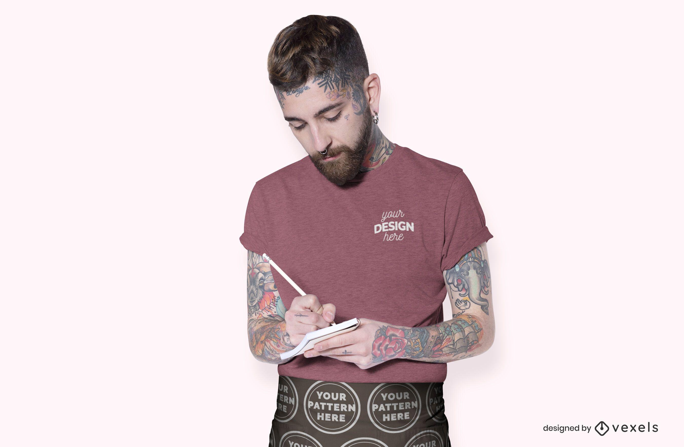 Barista T-Shirt Modell Design