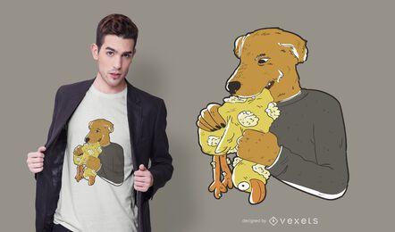 Diseño de camiseta de perro malo